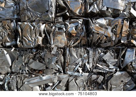 Compressed packages scrap of metal