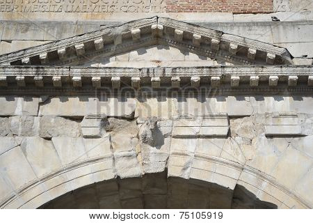 Detail Of Ancient Arch In Rimini