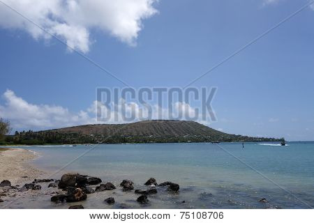 Rocky Beach At Maunalua Bay Beach Park