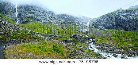 Waterfall On Trollstigen (the Troll Steps), Norway
