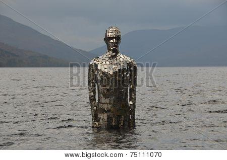 Statue in Loch Earn
