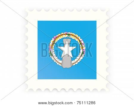 Postage Stamp Icon Of Northern Mariana Islands