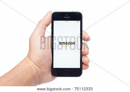 Pavlograd, Ukraine - November 1, 2014: Amazon Is An American International Electronic Commerce Compa