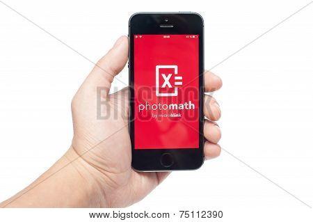 Photomath on iPhone 5S