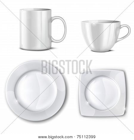 Set Of Cups And Plates