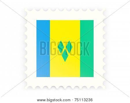 Postage Stamp Icon Of Saint Vincent