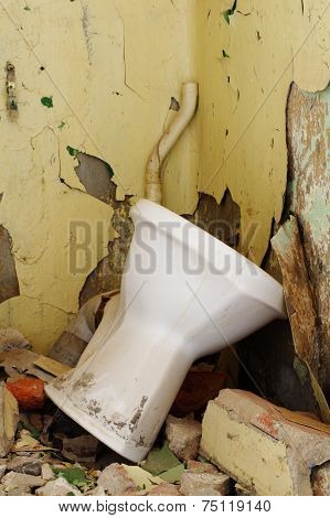 old toilet bowl