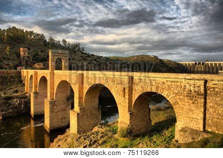 Roman Bridge Of Alcantara, Sunny Side