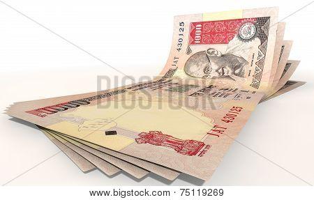 Rupee Bank Notes Spread