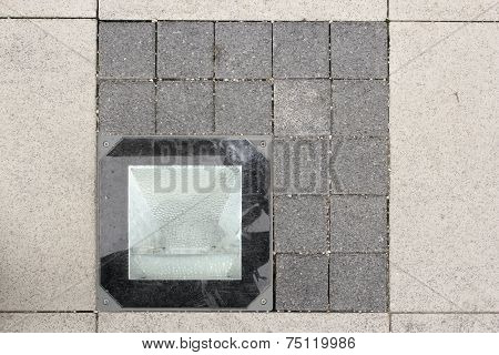 Light Source On Stone Pavement