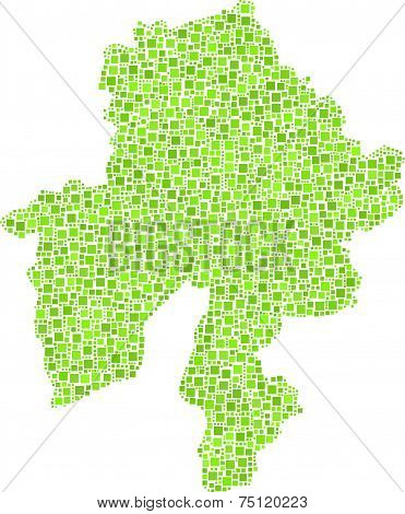 Isolated map of Namur