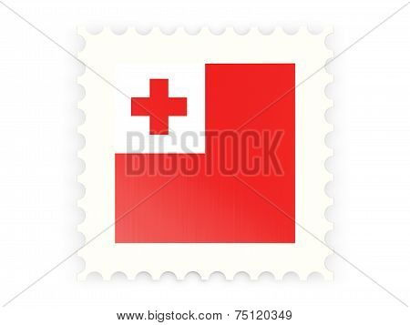 Postage Stamp Icon Of Tonga