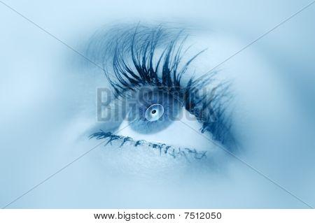 Female Eye Close Up.