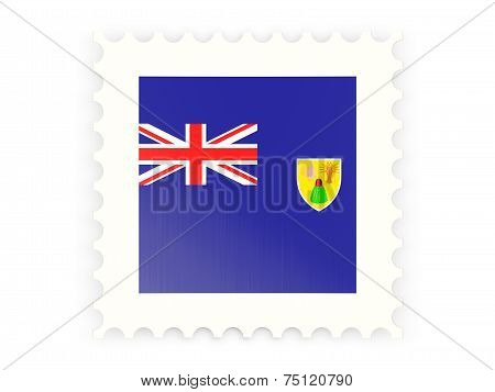 Postage Stamp Icon Of Turks And Caicos Islands