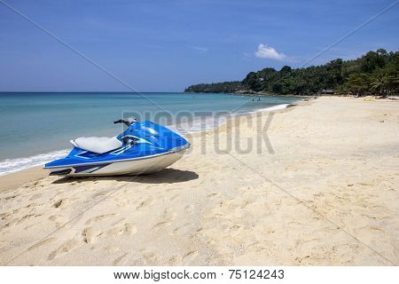 Jetski On Beach-l