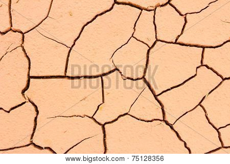 Cracked Soil Ground, Drought Land So Long Waterless, Close-up