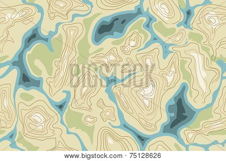 seamless map pattern