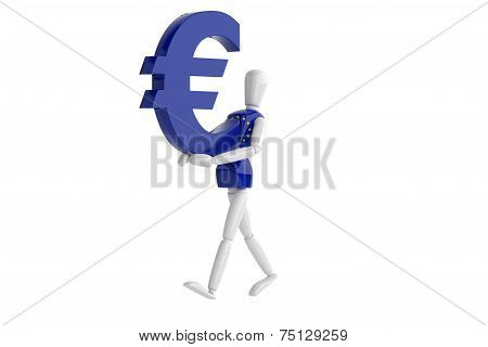 Euro Currency White Man