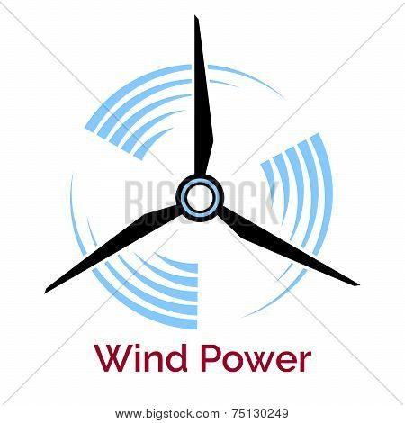 power making wind turbine company logo