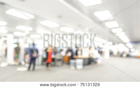 Blur Image Of Airport With Bokeh
