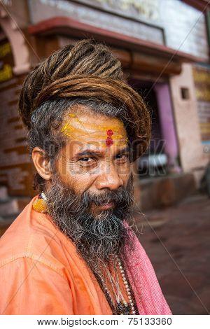 Hindu Saint in Haridwar.