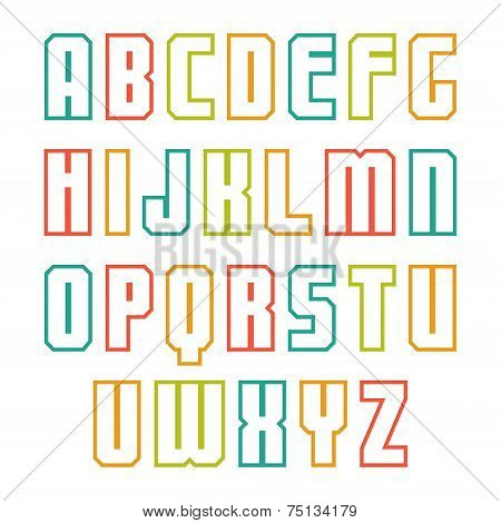 Outline Sans Serif Font
