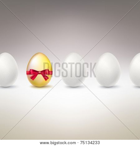 Golden Egg. Difference, uniqueness concept image.