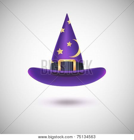 Purple witch hat for Halloween.