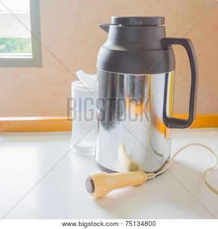 Thermos ,call Alarm And Bottle Milk