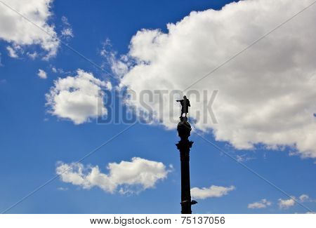 Statue Of Christopher Columbus Pointing America