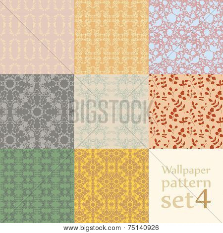 Floral Wallpaper Pattern Set