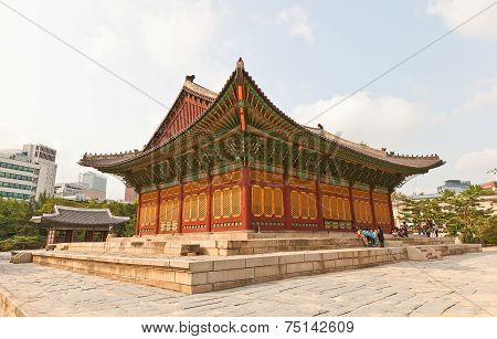 Junghwajeon Hall Of Deoksugung Palace In Seoul, Korea