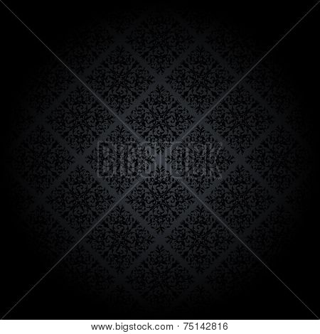 Black damask background