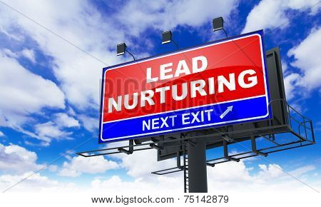 Lead Nurturing on Red Billboard.