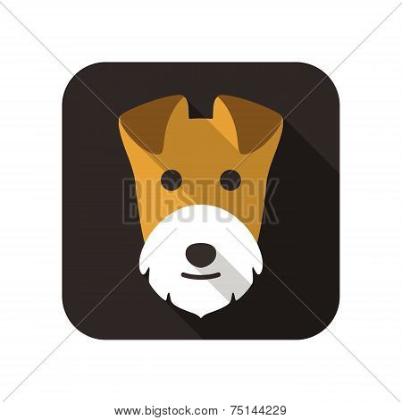 Airedale terrier animal flat icon