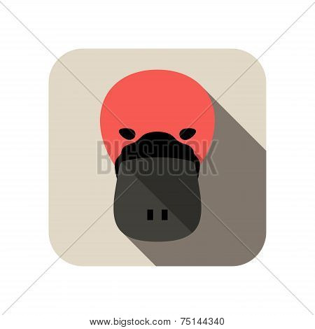 Duckmole animal flat icon