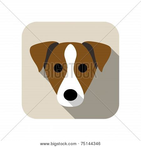 Parson Russell Terrier animal flat icon