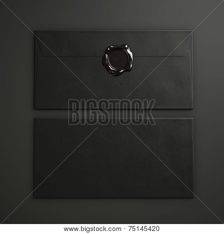 Black Paper Envelopes