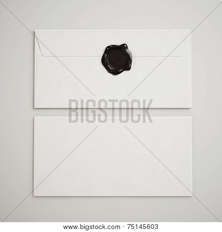 White Envelopes With Seal