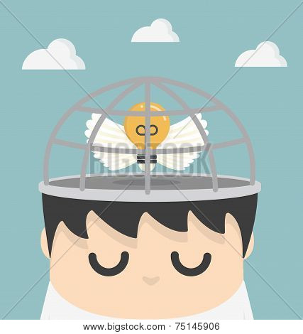 Vector Business Ideas In The Cage