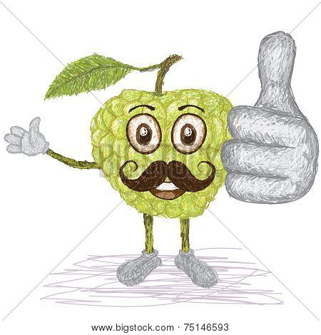 Custard Apple Mustache