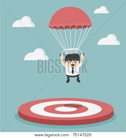 Businessman Focused On A Target
