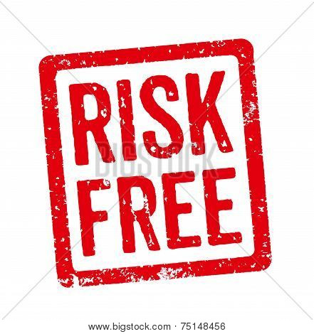 Red Stamp on a white background - Risk free