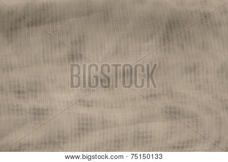 Texture Synthetic Mesh Fabric Of Beige Color