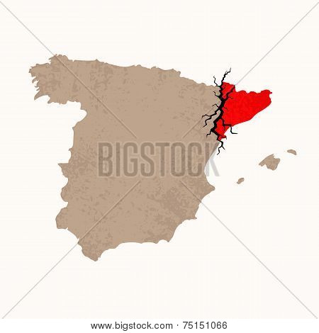 Map Of Catalan Independence