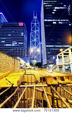 Occupy Central, hong kong city night