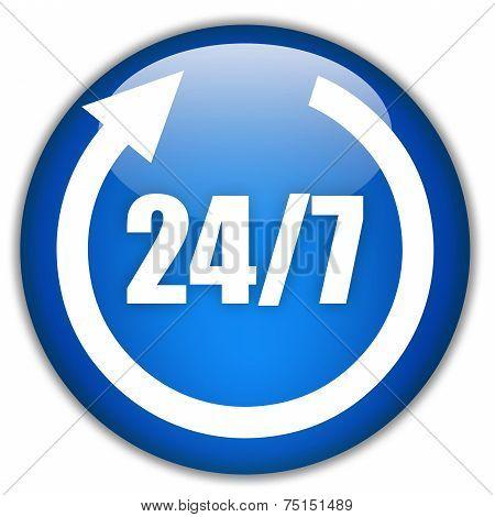 Twenty four seven service sign