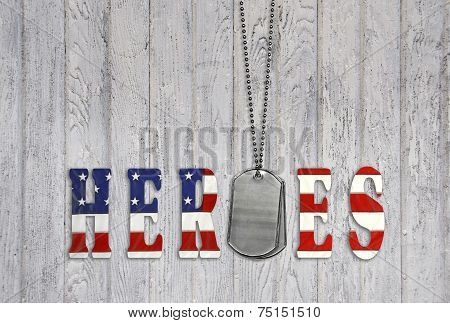 military dog tag for heroes