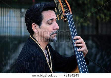 Portrait Of Contrabass Player