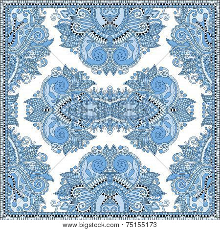 blue colour floral paisley bandanna. Square ornament